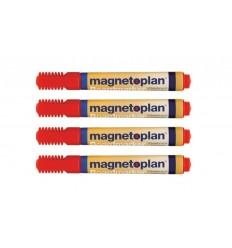 Набор маркеров для досок и бумаги Magnetoplan (Board & Flipchart Marker), 4 штуки, красный