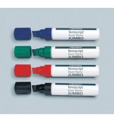 Набор маркеров для флипчартов Magnetoplan Jumbo, скошенный наконечник, 4 цвета