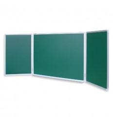 Доска меловая - магнитная зеленая 1000х3000мм Attache, 2 створки
