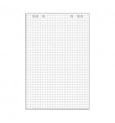 Блокнот для флипчартов клетка 67,5х98 80гр, 10 листов