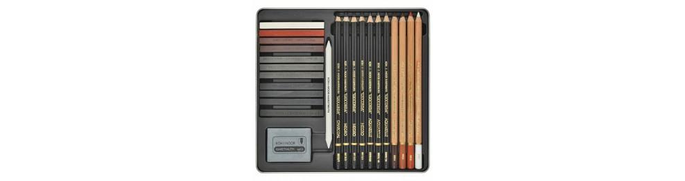 Специальные карандаши, мелки и грифели для изобразительного искусства