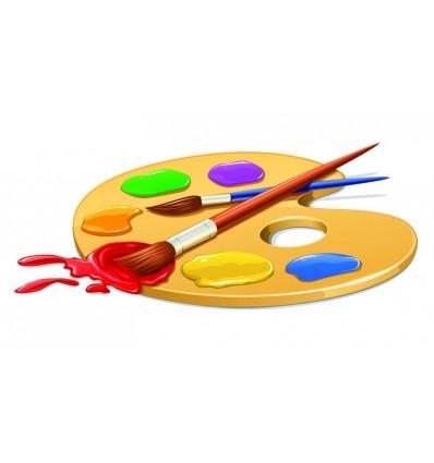 Краски для рисования, кисти