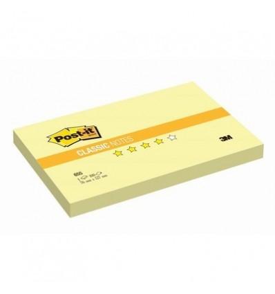 Бумага для заметок Post-it Classic 76x127мм, желтая пастель, 100 листов