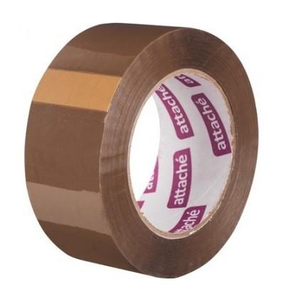 Клейкая лента упаковочная Attache, 48мм x 132м, 45мкм, коричневая