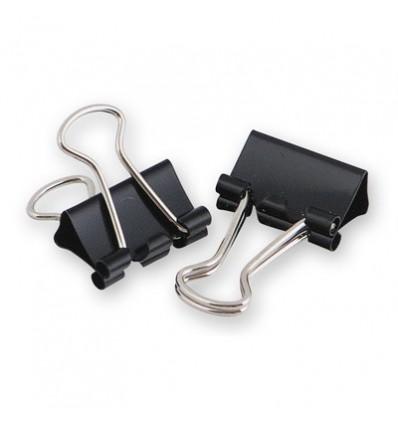 Зажимы для бумаг Attache 25 мм, черные, 12 штук в упаковке