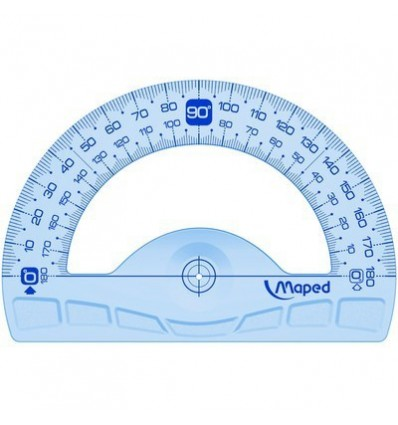 Транспортир Maped GEOMETRIC, 180 градусов, 12 см