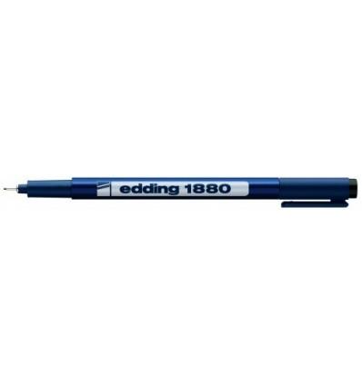Профессиональный фломастер для черчения Edding 1880 drawliner, 0.3мм, черный