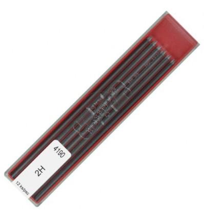 Грифели для цанговых карандашей Koh-i-Noor 4190/2H, 2,0 мм, 12 штук