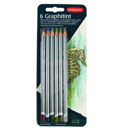 Набор графитовых акварельных карандашей DERWENT GRAPHITINT, 6 цветов