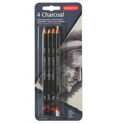 Набор угольных карандашей DERWENT CHARCOAL, 6 карандаша, в блистере