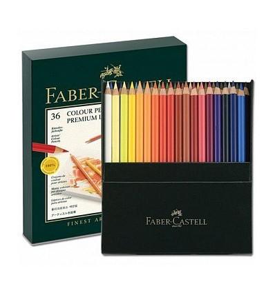 Набор цветных карандашей FABER-CASTELL POLYCHROMOS, 36 цветов, в студийной (кожзам) коробке