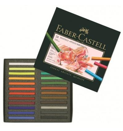Набор сухой пастели FABER-CASTELL Polychromos, 24 цвета