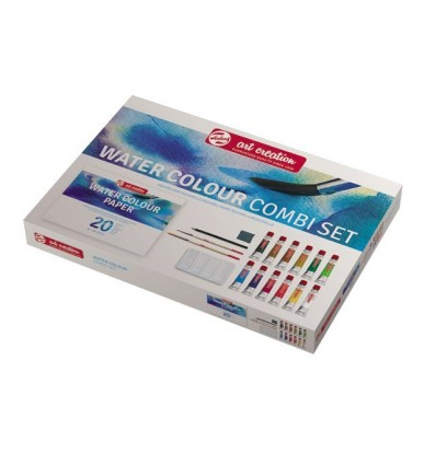 Акварельные краски в тюбиках ArtCreation ROYAL TALENS, 12 цветов по 12 мл., альбом, 2 кисти, ластик-клячка, палитра, карандаш