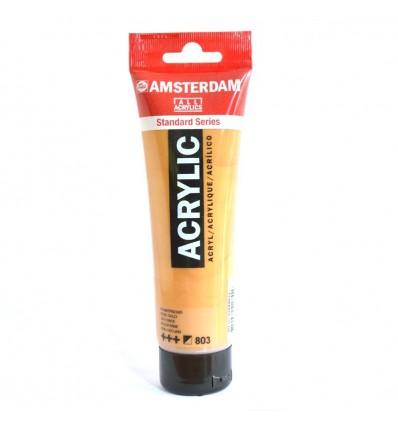 Акриловая краска AMSTERDAM ROYAL TALENS туба 120мл, цвет №803 Золото темное Specialties