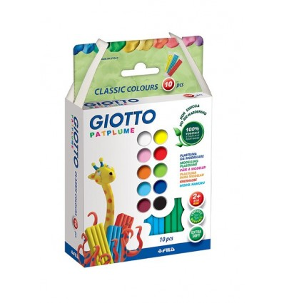 Пластилин GIOTTO Partplume 512900, 10 цветов по 20 гр
