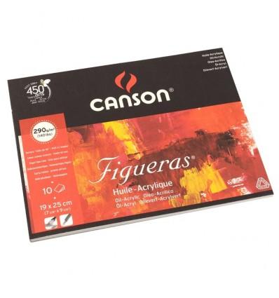 Альбом для масла CANSON Figueras 19*25см, 290гр. 10л., бумага зерно холста, склейка