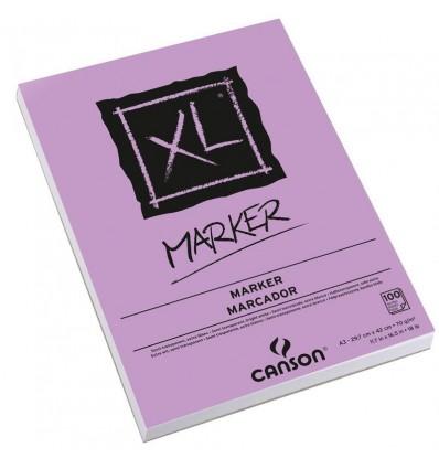 Альбом для маркеров CANSON Xl Marker А3 29.7*42см, 70гр. 100л., бумага белая гладкая, склейка
