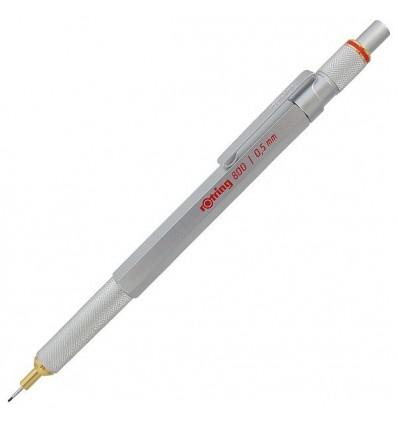 Механический карандаш ROTRING 800, 0.5мм, серебристый металлический корпус