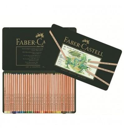 Набор цветных пастельных карандашей FABER-CASTELL Pitt, 36 цветов в металлической коробке