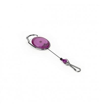Рулетка для бейджа Durable STYLE 8327 с выдвижным клипом до 80 см, фиолетовая, 1шт