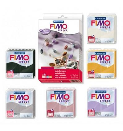 Глина полимерная STAEDTLER FIMO Soft, 6 цв по 57гр. - Гламурные цвета