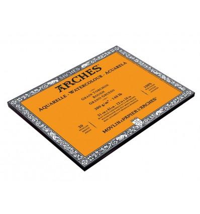 Альбом для акварели Arches Torchon 31*41см, 300гр. 20л., бумага крупное зерно, склейка по 4-м сторонам