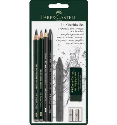 Набор графитовых карандашей FABER-CASTELL Pitt Graphite, 6 предметов