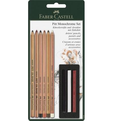Набор пастельных карандашей FABER-CASTELL Pitt set, 9 предметов