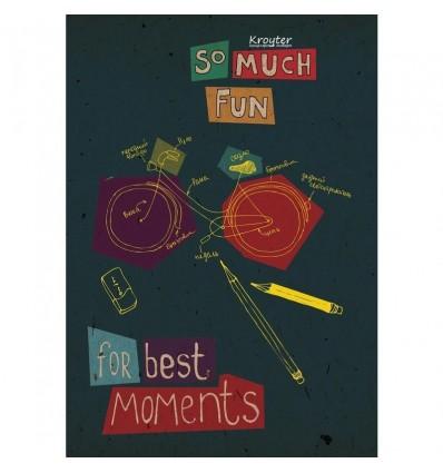 Тетрадь общая клетка Kroyter For best moments А4, 48 листов, на скрепке