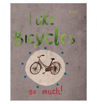Тетрадь общая клетка Kroyter Bicycle А5+, 48 листов, на скрепке