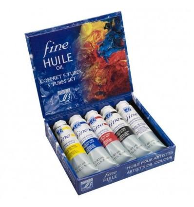 Набор масляных красок Lefranc Bourgeois FINE, 5 туб по 40мл