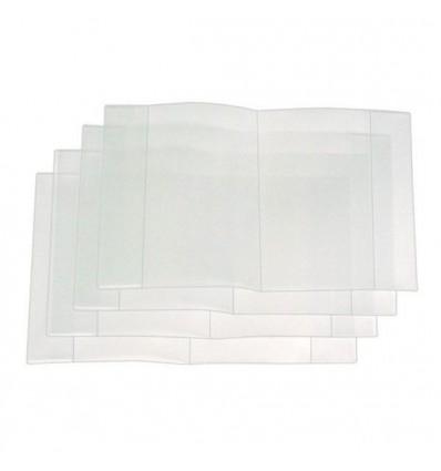 Обложка для дневников и тетрадей А5 210х350мм, 40мкм, прозрачная, 1шт