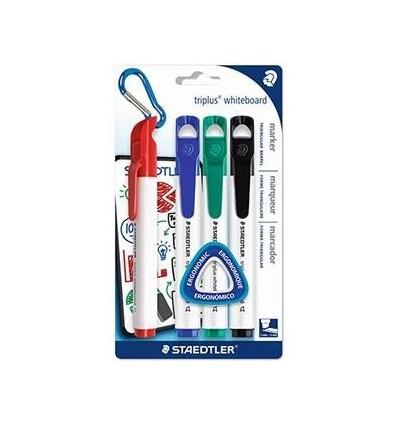 Набор маркеров для белых досок STAEDTLER triplus 3551, 2мм, скошенный наконечник, 4 цвета