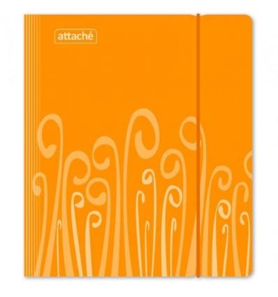 Бизнес-тетрадь на кольцах клетка Attache Fantasy оранжевая А5 (165х205 мм), 120 листов, 2 разделителя, резинка