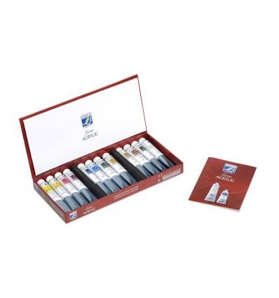 Акриловые краски в тюбиках LEFRANC&BOURGEOIS FINE Artist, 12 цветов по 20мл