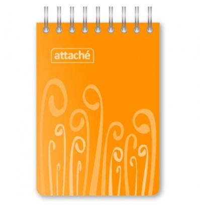 Блокнот клетка Attache Fantasy оранжевый, А7, 80 листов, спираль сверху