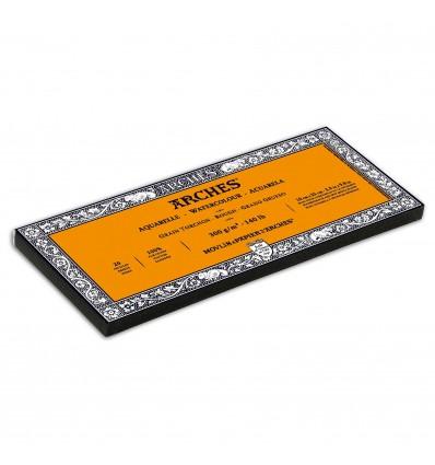Альбом для акварели CANSON Arches Torchon 10*25см, 300гр. 20л., бумага крупное зерно, склейка по 4-м сторонам