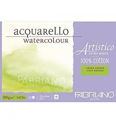 Альбом для акварели Fabriano Artistico Extra White Torchon 30,5x45,5см, 300гр., 20л., крупное зерно, склейка по 4-м сторонам