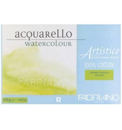 Альбом для акварели Fabriano Artistico Traditional White Torchon 23x30,5см, 200гр., 30л., крупное зерно, склейка по 4-м сторонам