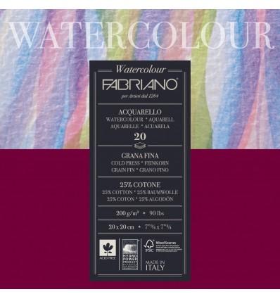 Альбом для акварели Fabriano Watercolour Studio FIN 20x20см, 200гр., 20л., мелкое зерно, склейка по 4-м сторонам