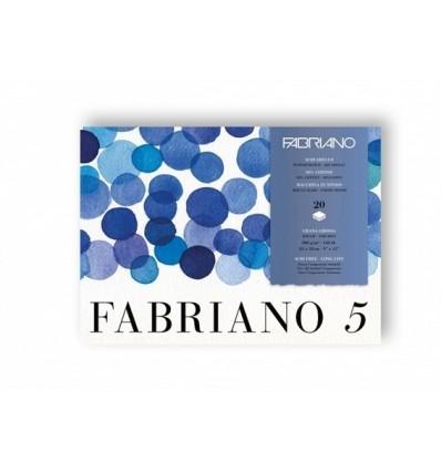 Альбом для акварели Fabriano 5, 26x36см, 300гр., 20л., Торшон крупное зерно, склейка по 4 сторонам