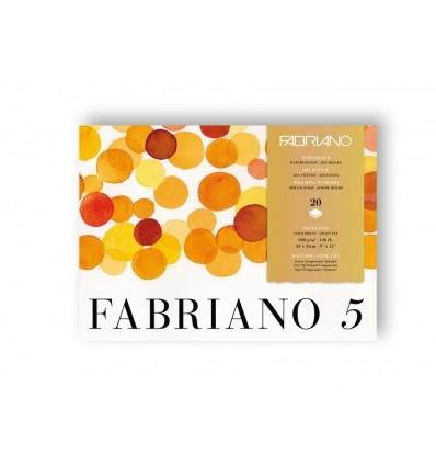 Альбом для акварели Fabriano 5, 23x31см, 300гр., 20л., Фин мелкое зерно, склейка по 4 сторонам