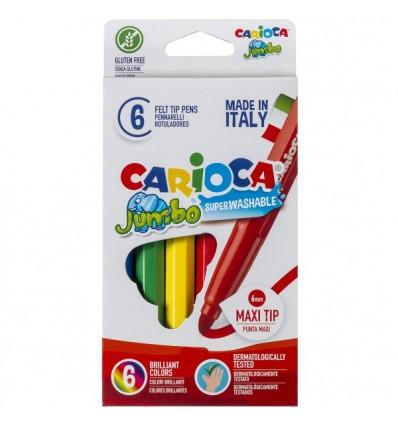 Набор фломастеров Carioca Jumbo 6 цветов