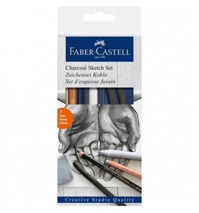 Набор для рисования FABER-CASTELL Charcoar Set (уголь), 7 предметов