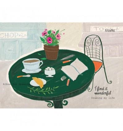 """Альбом для рисования Kroyter """"Drawing my life"""" 07491, А4, 60л., 100гр., склейка"""