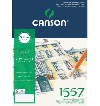 Альбом для графики CANSON 1557 А4 21*29.7см, 180гр. 30л., бумага малое зерно, склейка