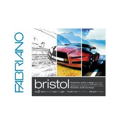 Бумага для зарисовок Fabriano Bristol 50x65см, 240гр., Бумага гладкая, 10л/упак