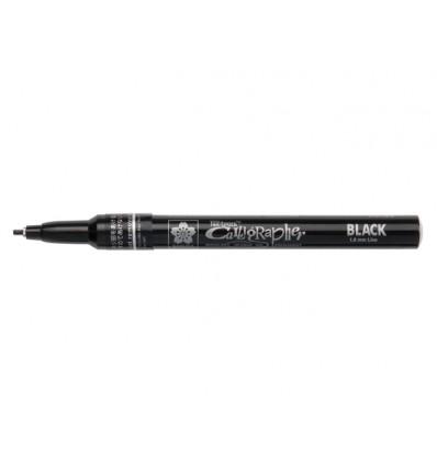 Маркер SAKURA Pen-Touch Calligrapher, плоский средний стержень 1.8мм, Цвет: Черный