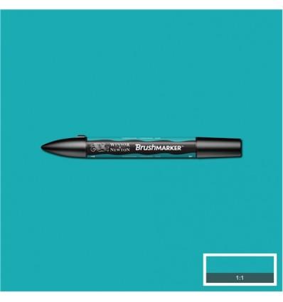 Маркер Winsor&Newton Brushmarker, двусторонний 2 пера (кисть и долото), Цвет: C247 Бирюзовый