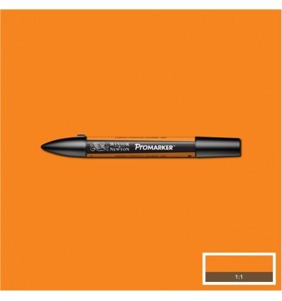 Маркер Winsor&Newton Promarker, двусторонних 2 пера (тонкое и долото), Цвет: O467 Оранжевая тыква